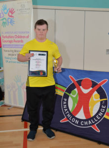 Dominic Laycock with his Highly Commended Award.