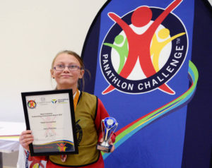 Panathlon 30.06.17 Keighley. Zara Pinches Highly Commended award