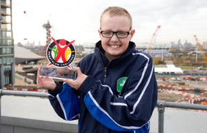 Overall Outstanding Achiever Award - Ethan Beau-Howes - Doucecroft School Colchester - The Panathlon Challenge - Jack Petchey Outstanding Achievement Awards 2016 - John Lewis - Stratford - London - 23/11/2016 © Andrew Fosker / Seconds Left Images for Panathlon