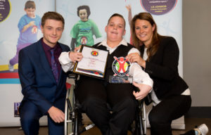 Jamie Brown with Scott Pope and Liz Johnson © Andrew Fosker / Seconds Left Images for Panathlon