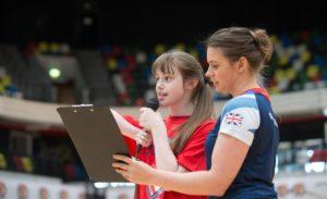 Georgina Hart reading the Panathlon oath